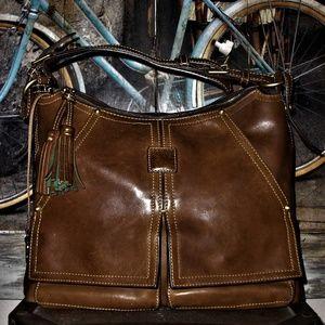 Dooney & Bourke Kingston Florentine Leather Bag